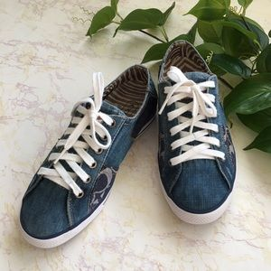 Coach Tonie Patchwork Distress Denim Sneakers